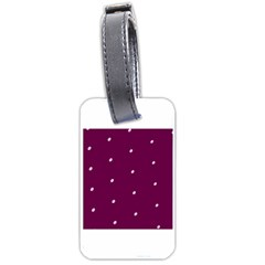 Purple White Dots Luggage Tag (two Sides)