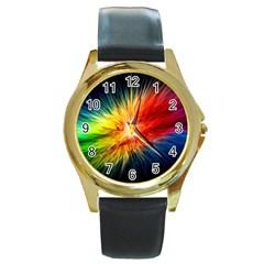 Cr5 Round Gold Metal Watch