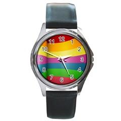 cr8 Round Metal Watch