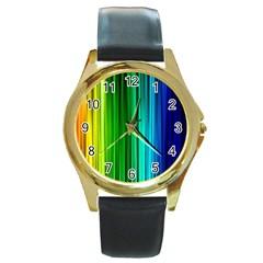 cr1 Round Gold Metal Watch
