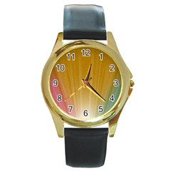 cr9 Round Gold Metal Watch