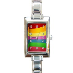 cr8 Rectangular Italian Charm Watch