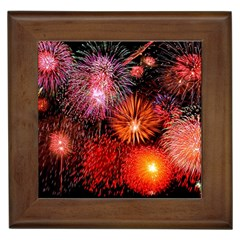 Fireworks Framed Ceramic Tile