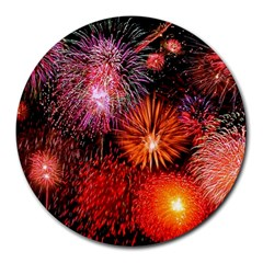 Fireworks 8  Mouse Pad (round)