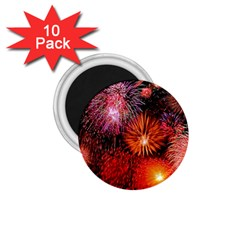 Fireworks 10 Pack Small Magnet (Round)