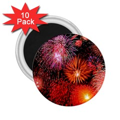 Fireworks 10 Pack Regular Magnet (round)