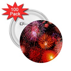 Fireworks 100 Pack Regular Button (Round)