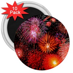 Fireworks 10 Pack Large Magnet (round)