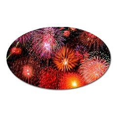 Fireworks Large Sticker Magnet (Oval)