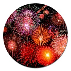 Fireworks Extra Large Sticker Magnet (Round)