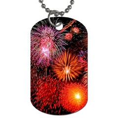 Fireworks Twin-sided Dog Tag