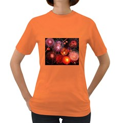 Fireworks Dark Colored Womens'' T-shirt