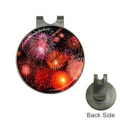 Fireworks Hat Clip with Golf Ball Marker