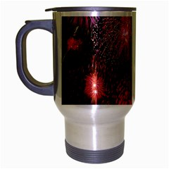 Fireworks Brushed Chrome Travel Mug