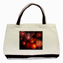 Fireworks Black Tote Bag