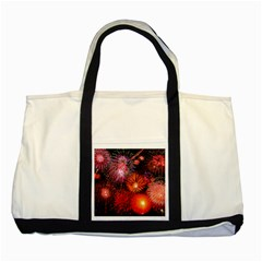 Fireworks Two Toned Tote Bag
