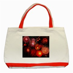 Fireworks Red Tote Bag