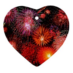 Fireworks Heart Ornament (Two Sides)