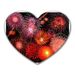Fireworks Mouse Pad (Heart)