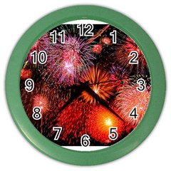 Fireworks Colored Wall Clock