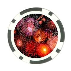 Fireworks Poker Chip