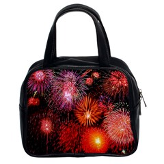 Fireworks Twin Sided Satched Handbag