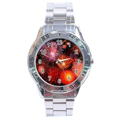 Fireworks Stainless Steel Analogue Watch (round)