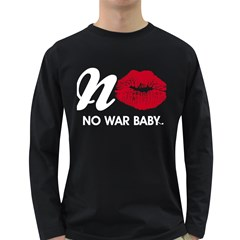 Tees No War Design Long Sleeve Dark T Shirt