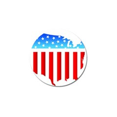 USA Flag Map 4 Pack Golf Ball Marker