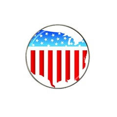 Usa Flag Map 4 Pack Golf Ball Marker (for Hat Clip)