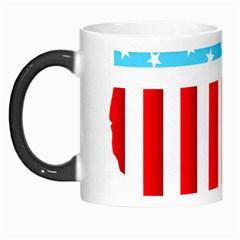 USA Flag Map Morph Mug