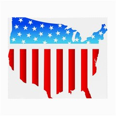 USA Flag Map Glasses Cleaning Cloth