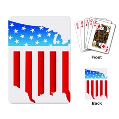 USA Flag Map Standard Playing Cards
