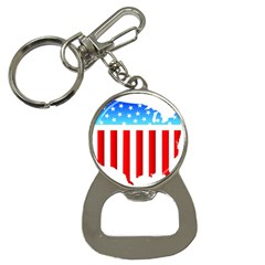 Usa Flag Map Key Chain With Bottle Opener