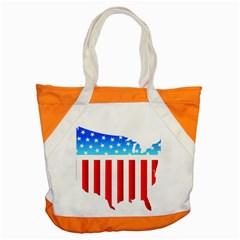USA Flag Map Snap Tote Bag
