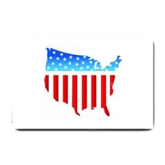 USA Flag Map Small Door Mat