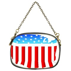 Usa Flag Map Twin Sided Evening Purse