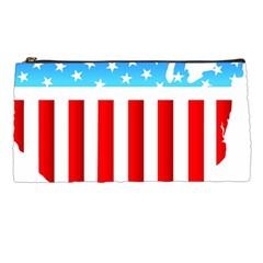 Usa Flag Map Pencil Case