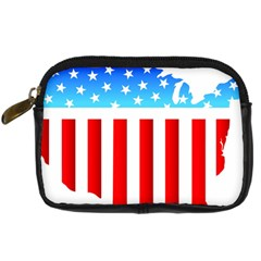 USA Flag Map Compact Camera Case
