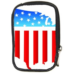 USA Flag Map Digital Camera Case