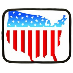 USA Flag Map 13  Netbook Case
