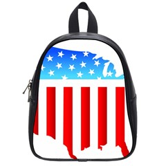 USA Flag Map Small School Backpack