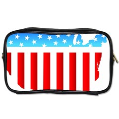 USA Flag Map Single-sided Personal Care Bag