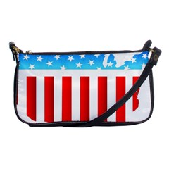 Usa Flag Map Evening Bag