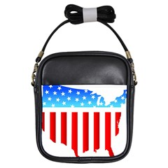 Usa Flag Map Kids'' Sling Bag