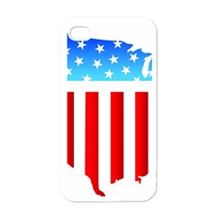 Usa Flag Map White Apple Iphone 4 Case