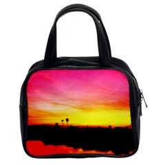 Pink Sunset Twin-sided Satched Handbag