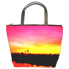Pink Sunset Bucket Handbag