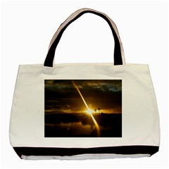 Rainbows And Sunsets 031 Twin-sided Black Tote Bag