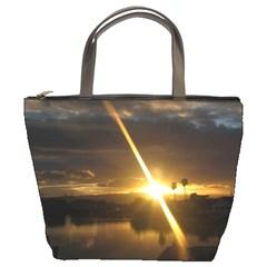 Rainbows And Sunsets 031 Bucket Handbag